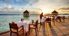 Does your view at breakfast look this good??? Hideaway Beach Resort - Maldives