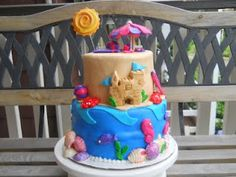 Beach Party Cake by Crazy Creative Shelby