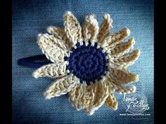 Easy to follow Tutorial Girasol Crochet Paso a Paso en Español