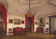 Interiors of the Winter Palace. The Fourth Reserved Apartment. The Drawing-Room
