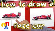 Follow along and draw a super awesome race car with us! It's easy and fun, just for kids. We used oil pastels to color our race cars, here's a link to purcha... Art For Kids Hub, Art Hub, Art Lessons For Kids, Car Painting, Painting For Kids, Drawing For Kids, Art Careers, How To Fold Towels, To Color