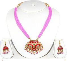 Lac Jewelry / Rajasthani Style Indian Costume Jewelry / AZINLC022-GPI Arras Creations http://www.amazon.com/dp/B00IFEUX6O/ref=cm_sw_r_pi_dp_Mal9ub12GA5YZ