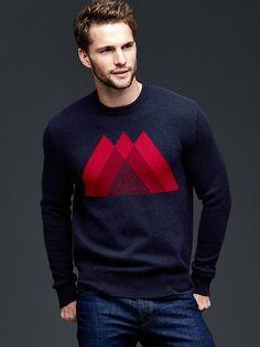 Lambswool mountain sweater