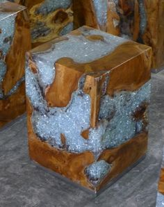 CUBE Wood + Resin 30 x 30 x 40 - $94