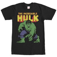 Marvel Incredible Hulk Black T-Shirt