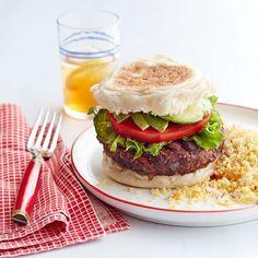 Black Bean Veggie Burger with Couscous