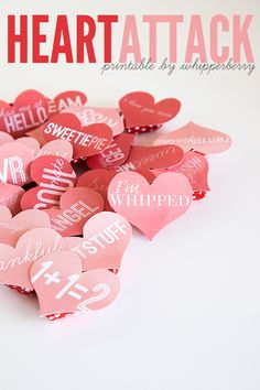 Start a Heart Attack in your neighborhood... Free printables at http://whipperberry.com