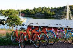 Bicycles in Åland Islands, Finland By Plane, Midnight Sun, Archipelago, Helsinki, West Coast, Finland, Scandinavian, Trail, Boat