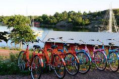 Bicycles in Åland Islands, Finland Midnight Sun, Archipelago, Helsinki, West Coast, Finland, Scandinavian, Trail, Bicycles, World
