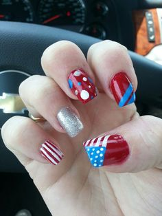 Kesha Osmond does it again 4th of July nail art amazing