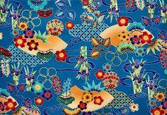 Japanese Cotton, Japanese Kimono, Vintage Japanese, Kimono Fabric, Cotton Fabric, Okinawa, Vintage Fabrics, Sewing Clothes, Printed Cotton