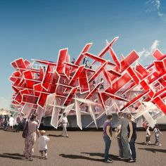 Coca-Cola Beatbox by Pernilla & Asif – London architects Pernilla & Asif have unveiled designs for a pavilion that can be played like a musical instrument for the London 2012 Olympic park.