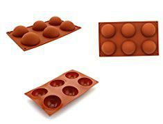 Circle Silicone Mold. Zicome 6 Cavities Large Half Circle Silicone Delicate Chocolate Desserts, Ice Cream Bombes, Cakes, Soap Making Mold.  #circle #silicone #mold #circlesilicone #siliconemold