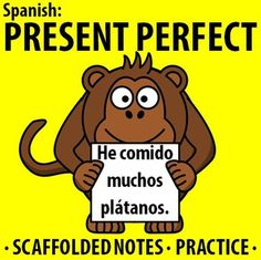 $ Spanish: Present Perfect Tense - Scaffolded notes & practice. Students learn the uses and formation of the present perfect tense. They then practice using the present perfect in different ways.