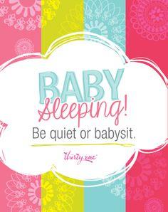 Baby Sleeping!