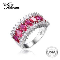 We love it and we know you also love it as well Luxury Pigeon Blood Red Ruby Jewelry Cocktail Ring Genuine Solid 925 Sterling Silver Jewelry Fashion Ring For Women just only $26.99 with free shipping worldwide  #finejewelry Plese click on picture to see our special price for you