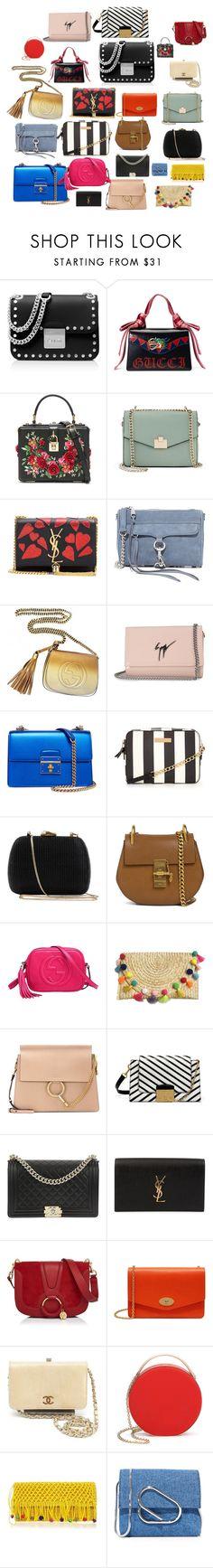 Ideas about Mini Bags by nadinezvous on Polyvore featuring mode, MICHAEL Michael Kors, Dolce&Gabbana, Gucci, Mulberry, Yves Saint Laurent, Giuseppe Zanotti, Rebecca Minkoff, Jennifer Lopez and Chloé
