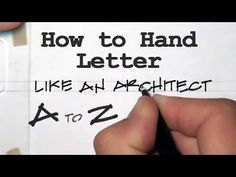 Licensed architect and teacher Doug Patt of How to Architect has created a tutorial on how to hand letter like an architect. Hand lettering is a dying art Architect Career, Architect Logo, Architect Drawing, Portfolio Architect, Architectural Writing, Architectural Lettering, Handwritten Letters, Calligraphy Letters, Monogram Fonts