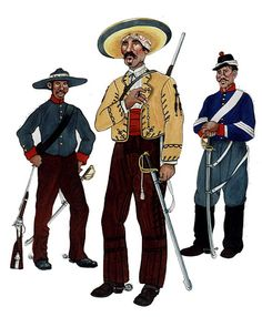 The Mexican Adventure: Uniforms: Republican Army 4. Trooper, Rurales. 5. Irregular Cavalryman. 6. Trooper, Regular Cavalry