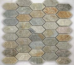 Master / Second Bath Accent | Silver Sands Picket Mosaic