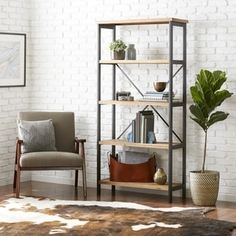 Perth 5-Shelf Industrial Bookcase by Christopher Knight Home | Overstock.com Shopping - The Best Deals on Media/Bookshelves