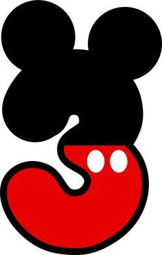 Resultado de imagen de numeros mickey mouse para imprimir