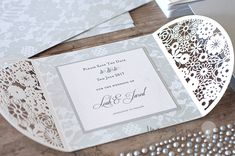 small laser cut invitation to decorate yourself. DIY wedding stationery supplies. Save the date cards to make yourself