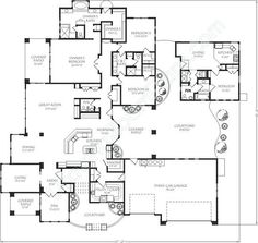 ranch style house plan 5 beds 550 baths 5884 sqft plan 48 433 ranch style house ranch style and ranch - Patio Style Dream Home Plans