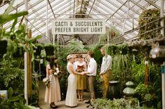 greenhouse elopement ceremony
