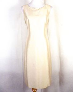 e3db6db61d2 NWOT Talbots tan nude 100% Silk Shift Dress Sleeveless lined zip back 4