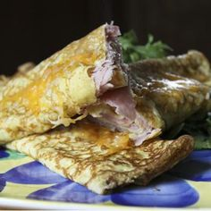 Ham and Cheese Stuffed Crepes | How to Make Crepes Recipe