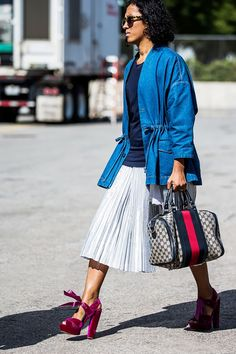 Pleated Skirts via @WhoWhatWear