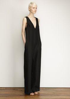 Black V-neck Jumpsuit by Nomia – http://totokaelo.com/nomia/v-neck-jumpsuit/black/J17951