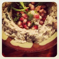 Day #298 - smoky aubergine baba ganoush dip with sweet pomegranate seeds @YallaYallaUK with @yummychooeats