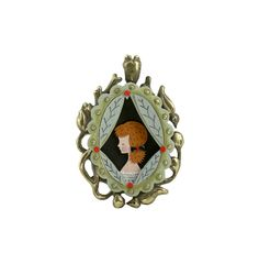 This cameo pendant is from Elsa Mora's blog. She made this lovely thing from a bronze cast of her own carved wax design and from cut paper. Lovely.