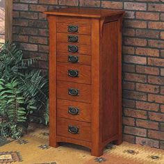 Mission Craftsman Oak Jewelry Armoire For the Home Pinterest