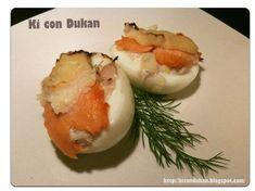 Ki con Dukan: Recetas Dukan: Huevos rellenos marineros