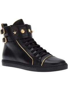 VERSACE Star Stud Hi-Top Sneakers