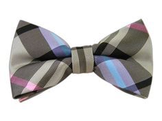 Wow Plaid - Black/Silver/Pink (Bow Ties)