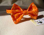 Cat Breakaway Bowtie Collar Halloween Orange