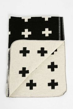Pia Wallen Cross Throw Blanket - Urban Outfitters