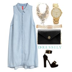 A denim dress is a great piece of clothing to own. You can dress it down with sneakers and a backpack, or dress it up with heels, a clutch bag and a beautiful statement necklace! Perfect for that day out in town. www.dressi.ly