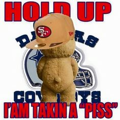fan ted peeing on cowboys logo Niners Girl, Sf Niners, Forty Niners, Nfl 49ers, 49ers Fans, Giants Football, Ny Yankees, Football Baby, Football Team