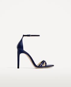 STRAPPY HEELED LEATHER SANDALS