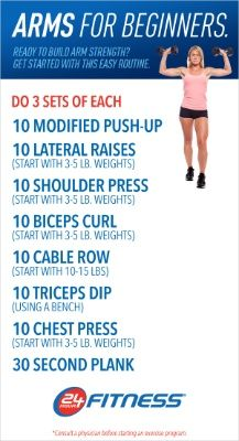 Beginner arm workout. ---> Tone up your arms for summer ...