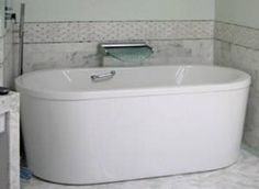 Oval Soaking Tub with Optional Grab Bar Neptune Vapora F2 End Drain Freestanding Bath 60 x 36  66