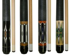 "Lot of 4 - 58 "" 2 Piece Hardwood Canadian Maple Pool Cue Billiard Table Stick 18 - 21 Oz With Steel Joint: Made of hardwood Canadian maple wood - Steel joint - Irish linen wrap - fiber ferrule - Glue on leather tip - This listing for 4 cues - Custom Pool Cues, Pool Sticks, Play Pool, Canadian Maple, Wood Steel, Pool Table, Cool Pools, Swimming Pools, Hardwood"