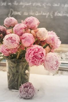 The most beautiful flower ever in my opinion. We used these light pink peonies throughout all the flowers at our wedding. Love the softness!