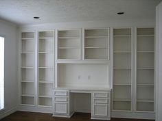 study with built in desk and shelves   shoarora   Flickr