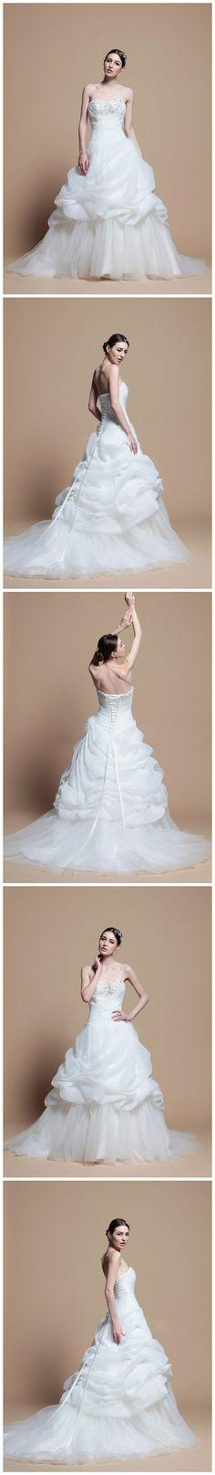 Sweetheart With Catch-Up Skirt Princess Wedding Dress